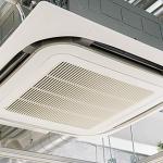 熱に弱い樹脂製品とスタッフさんの快適のため、業務用エアコンを2台導入しました。