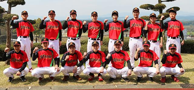 ミヤザキは、野球部を発足しました。